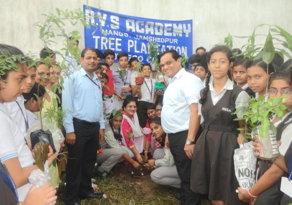 Tree plantation in R.V.S Academy